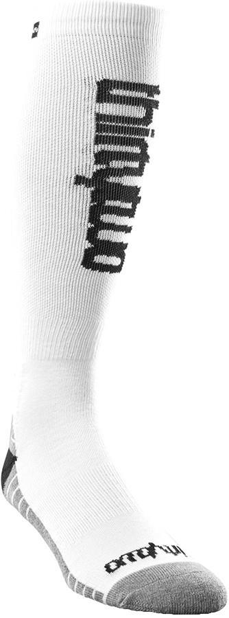 thirtytwo Women's Double Ski/Snowboard Socks, L/XL White