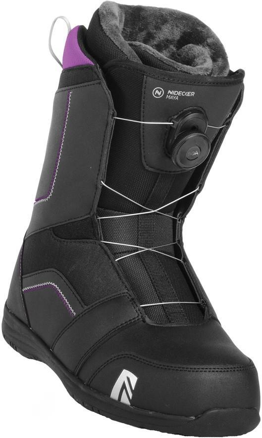 Nidecker Maya Boa Women's Snowboard Boots, UK 4.5 Black 2019