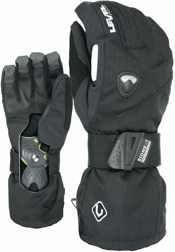 Level Fly Snowboard/Ski Gloves, XXL Black