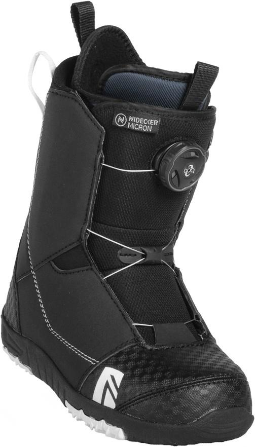 Nidecker Micron Boa Children's Snowboard Boots, UK 12C Black 2019