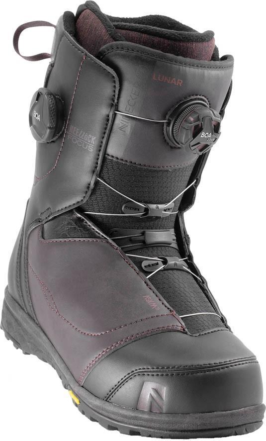Nidecker Lunar Focus Boa Women's Snowboard Boots, UK 7 Burgundy 2020