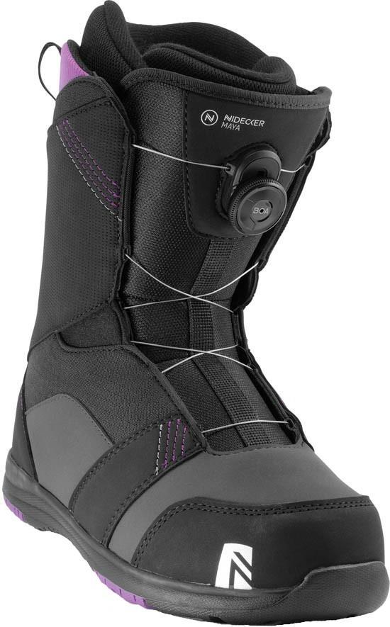 Nidecker Maya Boa Women's Snowboard Boots, UK 5 Black 2020