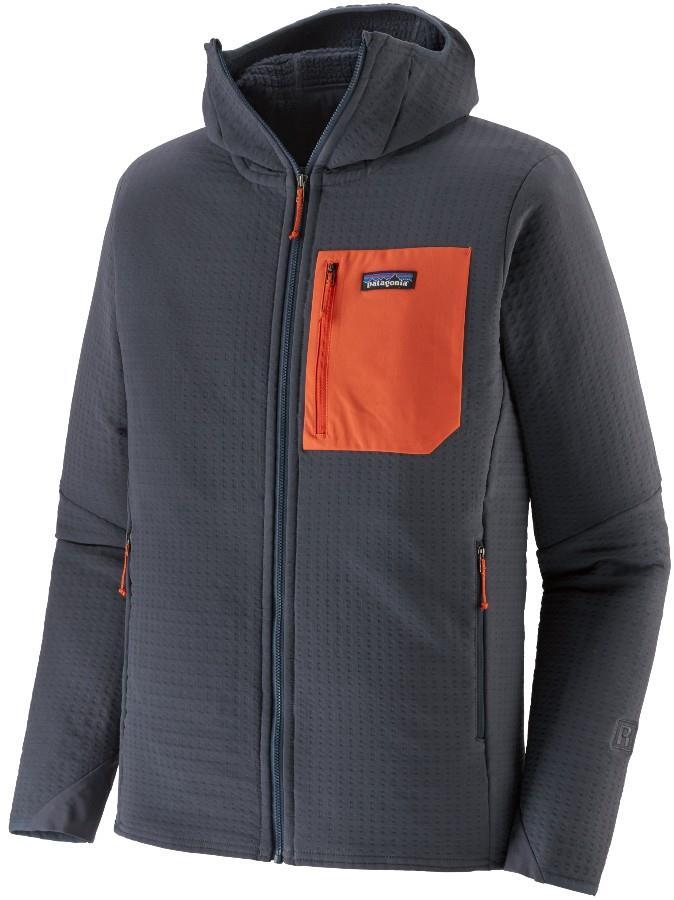Patagonia R2 TechFace Hoody Softshell Jacket, S Smolder Blue