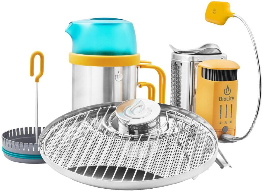 BioLite Campstove 2+ Complete Cook Kit Stove, Grill & Kettle Set