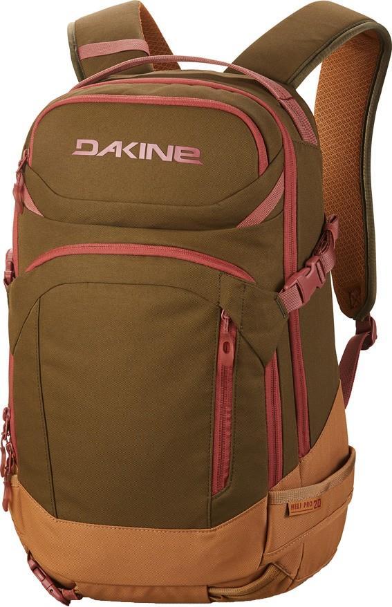 Dakine Womens Heli Pro Women's Snowboard/Ski Backpack, 20l Dark Olive/Caramel