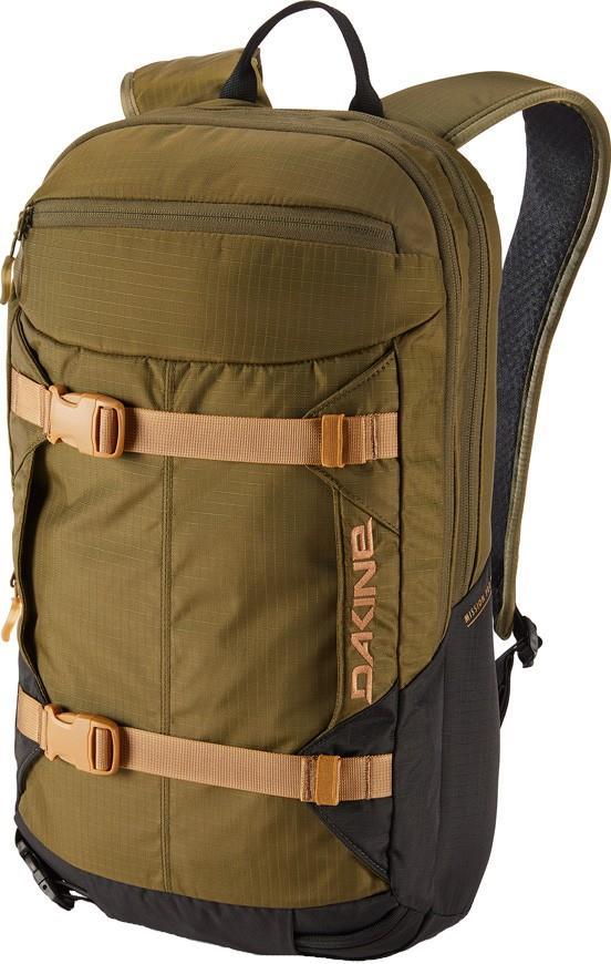 Dakine Adult Unisex Mission Pro Snowboard/Ski Backpack, 18l Dark Olive/Black