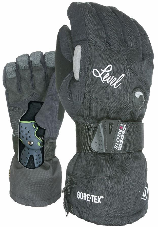 Level Half Pipe Gore-Tex Women's Snowboard/Ski Gloves, S/M Black