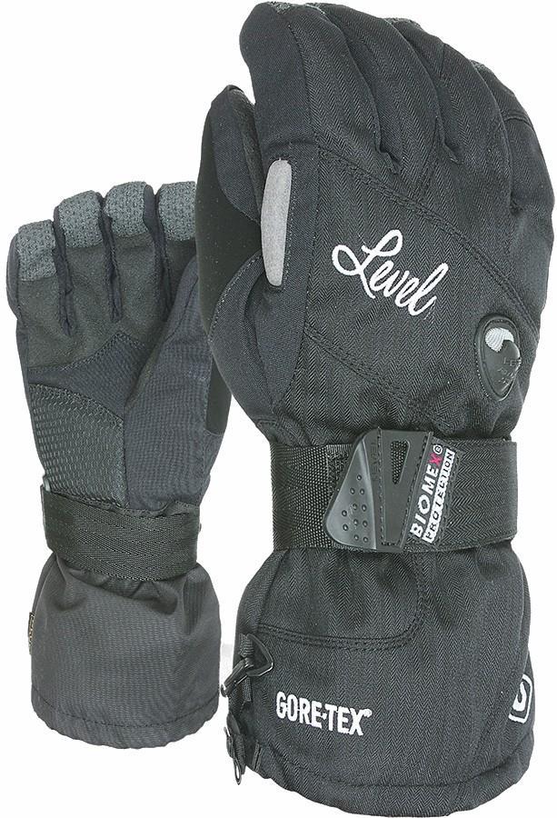 Level Half Pipe Gore-Tex Women's Snowboard/Ski Gloves M Black