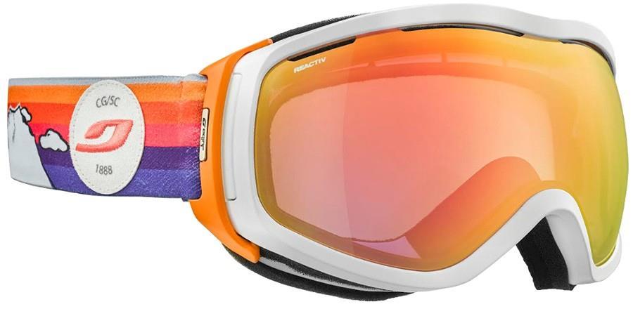 Julbo Womens Elara White, Reactiv 1-3 Women's Snowboard/Ski Goggles, L