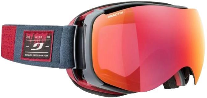 Julbo Starwind Photo Reactiv 2-3 Snowboard/Ski Goggles, S/M Grey/Red