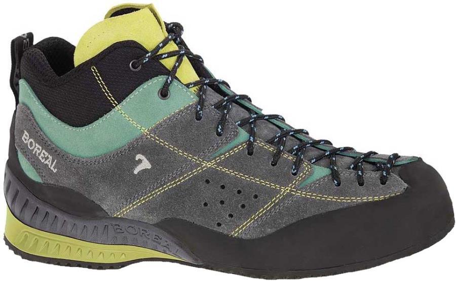 Boreal Flyers Mid Approach/Walking Shoe, UK 4.5 Grey/Lime