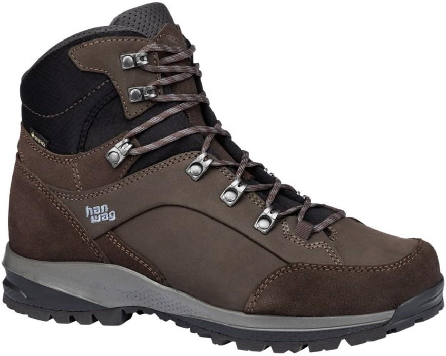 Hanwag Banks SF Extra GTX Hiking Boots UK 7.5 Mocca/Asphalt
