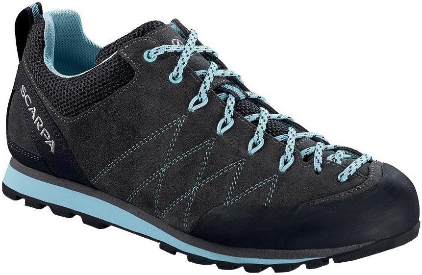 Scarpa Crux Women's Approach Shoe, UK 6 1/2 EU 40 Shark/Blue Radiance