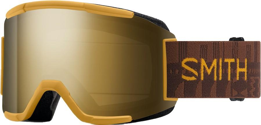 Smith Squad CP Sun Black Gold Snowboard/Ski Goggles, M Amber