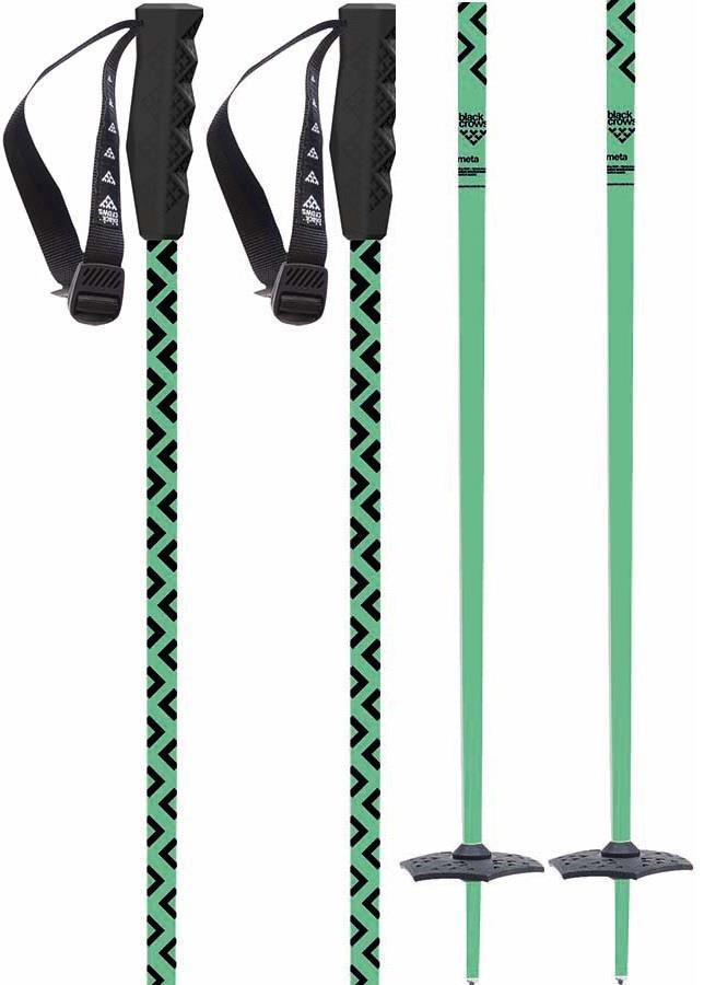 Black Crows Meta Pair Of Ski Poles, 120cm Green/Black