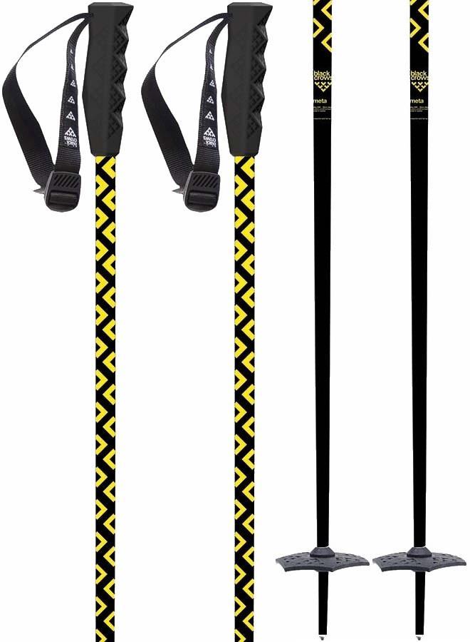 Black Crows Meta Pair Of Ski Poles, 125cm Black/Yellow