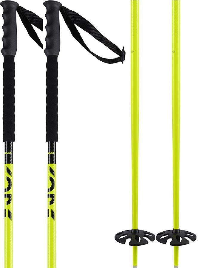 Head Kore Ski Poles, 115cm Black/Yellow