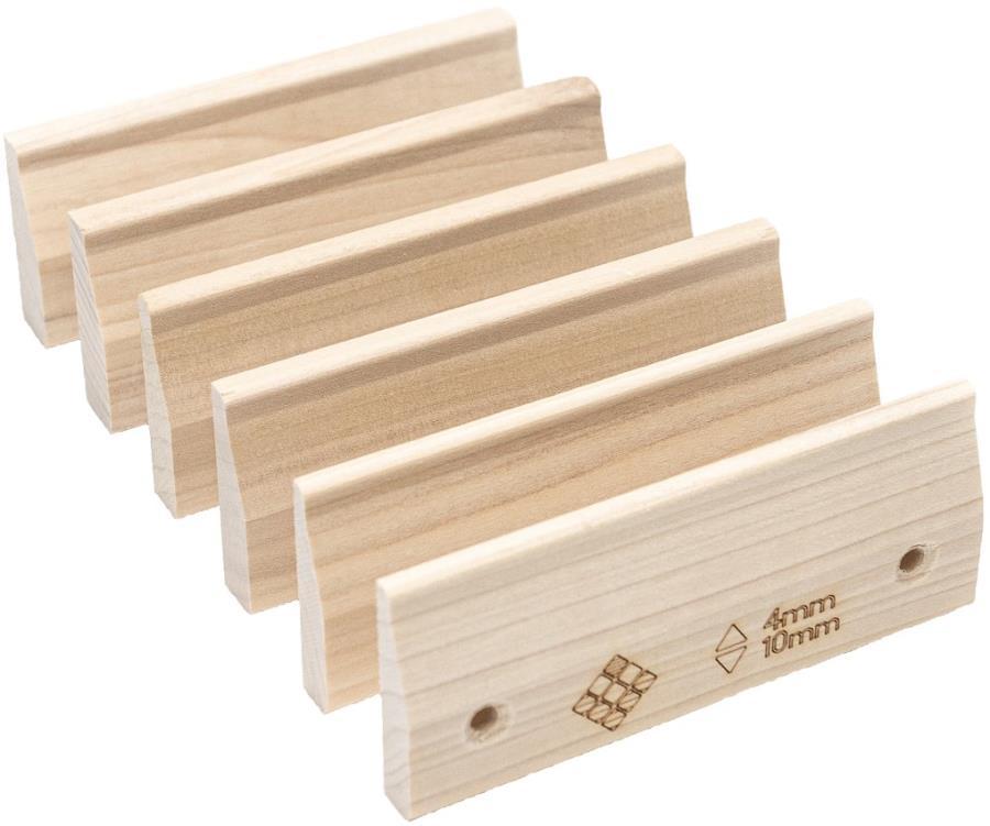 Lattice Micros Crimp Climbing Grips, 6 Pack Wood