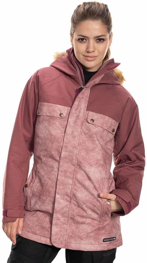 686 Dream Womens Snowboard/Ski Jacket M Crushed Berry Wash Colorblock