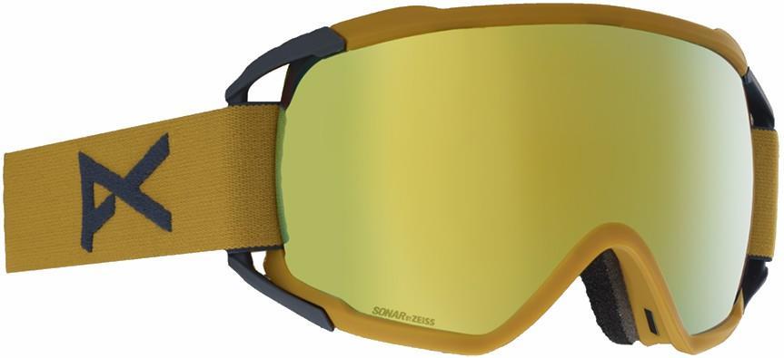 Anon Circuit Sonar Bronze Ski/Snowboard Goggles, L Mustard
