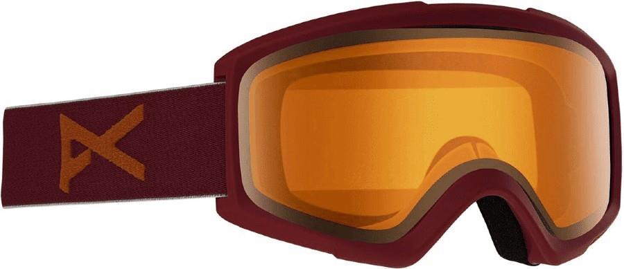 Anon Helix 2.0 Amber Ski/Snowboard Goggles, S/M Maroon