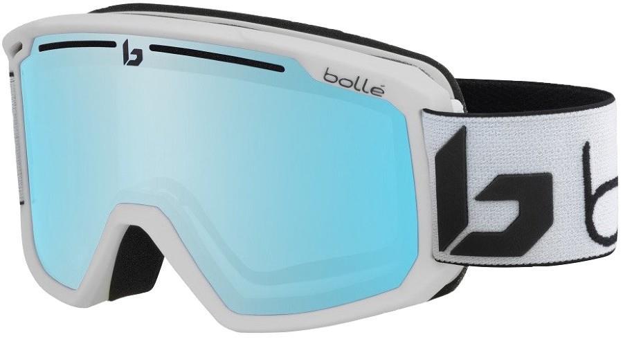 Bolle Maddox P'hromic Blue Snowboard/Ski Goggles, Matte White Corp