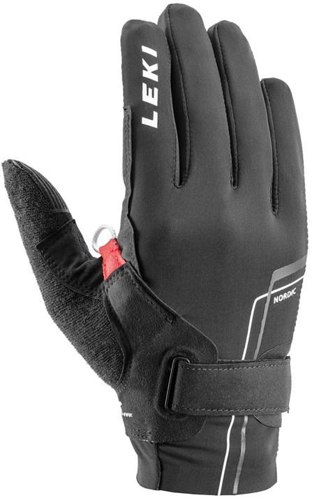 Leki Adult Unisex Nordic Move Shark Trail Running & Walking Gloves, Large Black