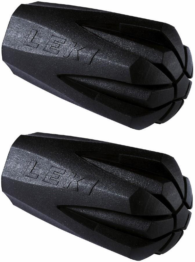 Leki Trekking Pad Protective Rubber Tip Pair Black