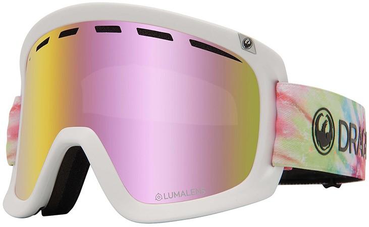 Dragon D1 OTG LumaLens Pink Ion Snowboard/Ski Goggles, L Tie Dye