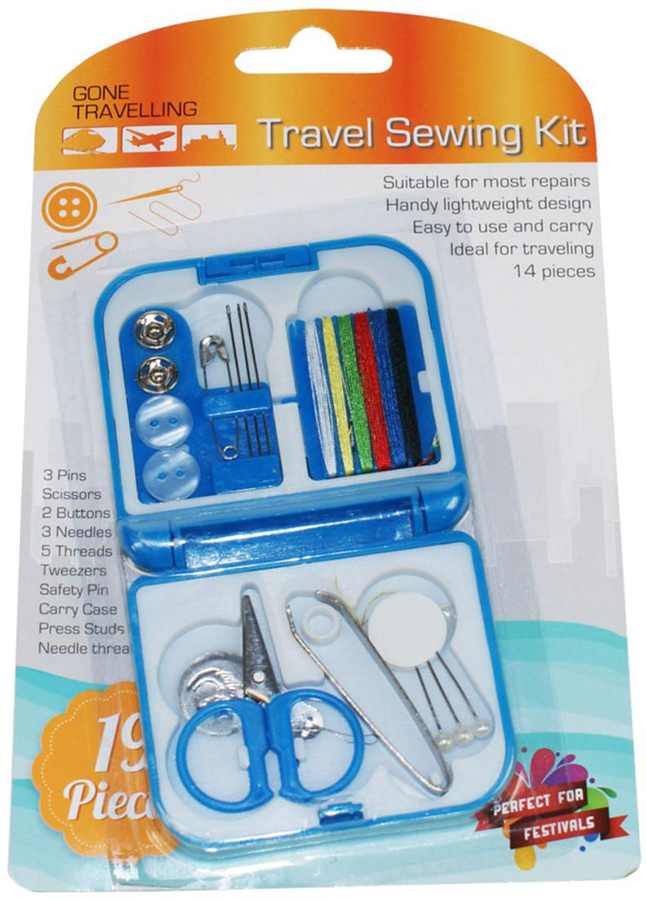 Gone Travelling Travel Sewing Kit, Blue