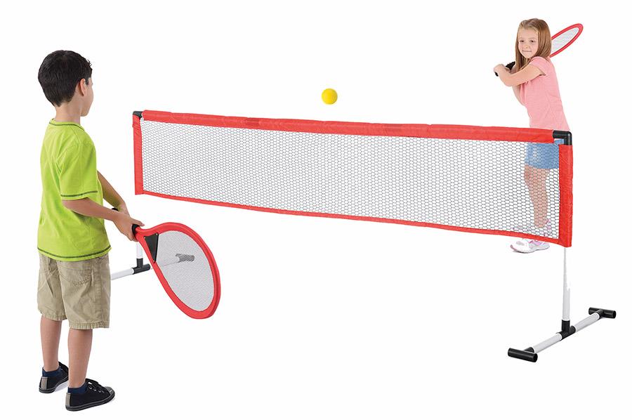 Toyrific Baseline 2 Player Garden Tennis Set, Red
