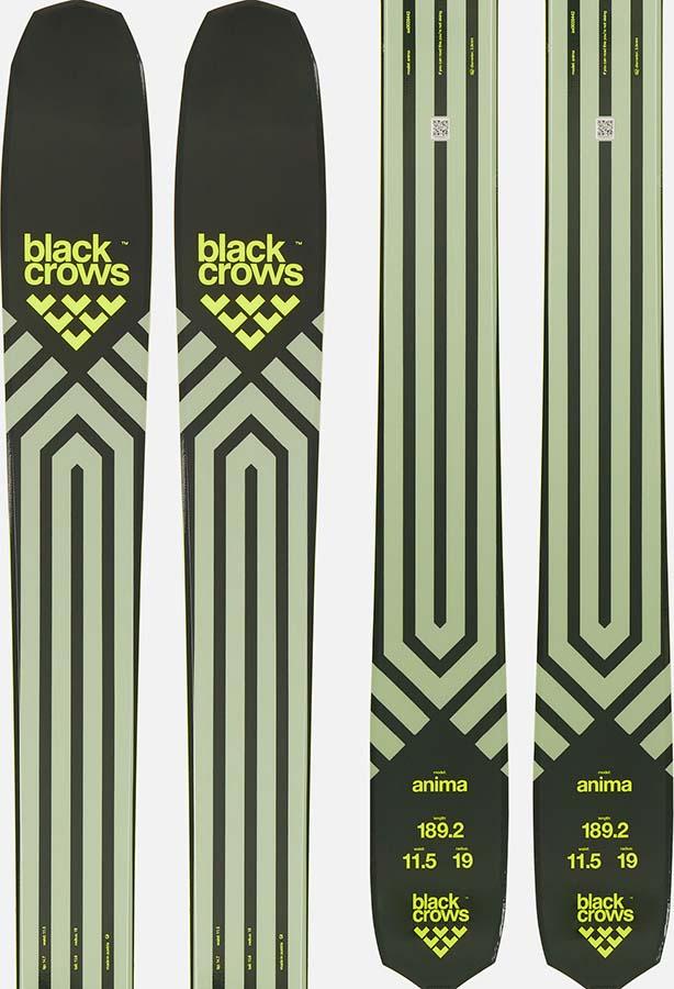 Black Crows Anima Skis 176cm, Green/Yellow, Ski Only, 2021