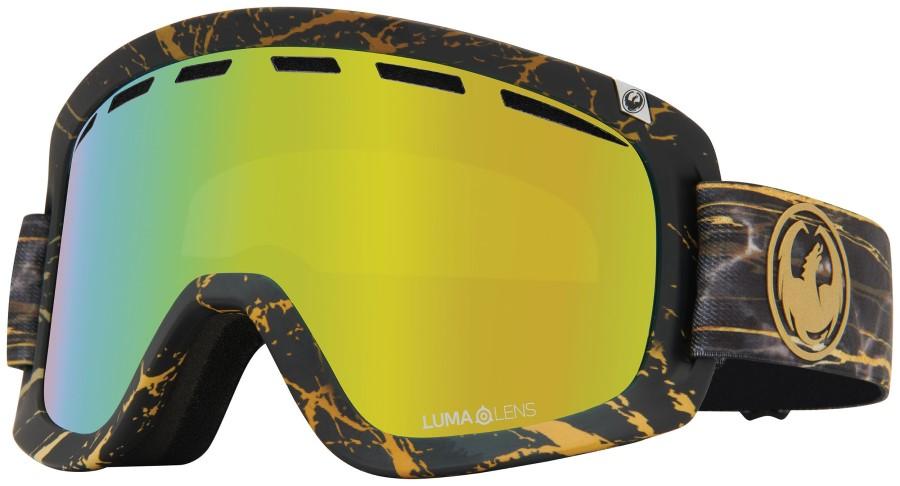 Dragon D1 OTG LumaLens Gold Ion Snowboard/Ski Goggles L 14 Karrat