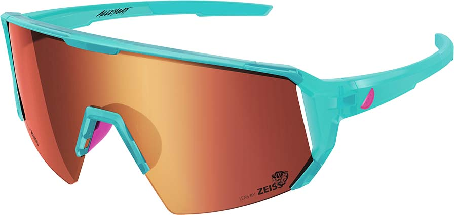 Melon Alleycat Red Chrome Performace Sunglasses, Turquoise/ Pink