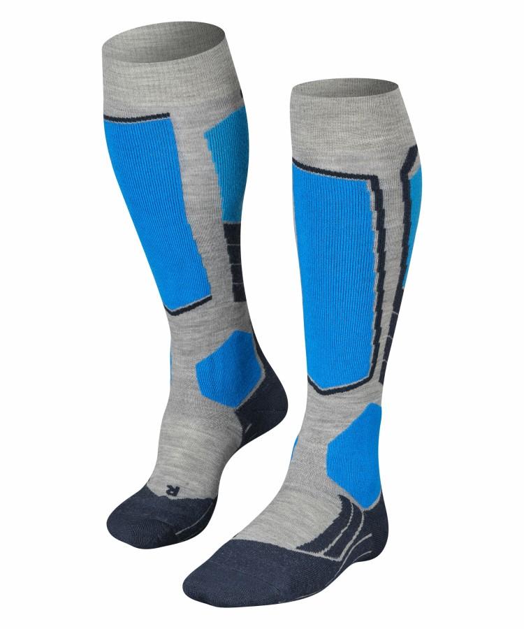 Falke SK2 Merino Wool Ski Socks, UK 8-9 Light Grey