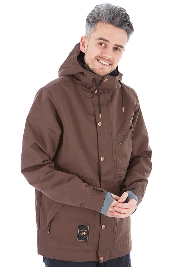 L1 Premium Goods Wilcox Ski/Snowboard Jacket, L Espresso