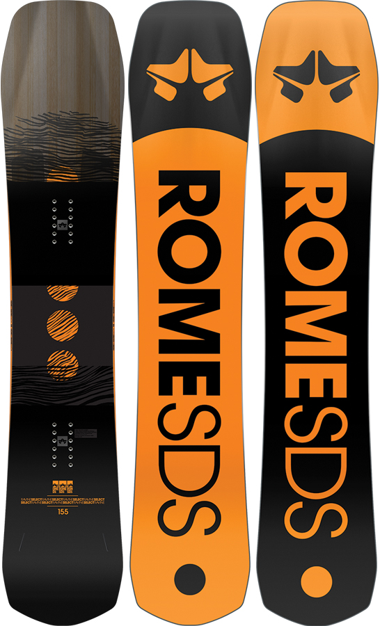 Rome Adult Unisex Ravine Select Hybrid Camber Snowboard, 158cm 2021
