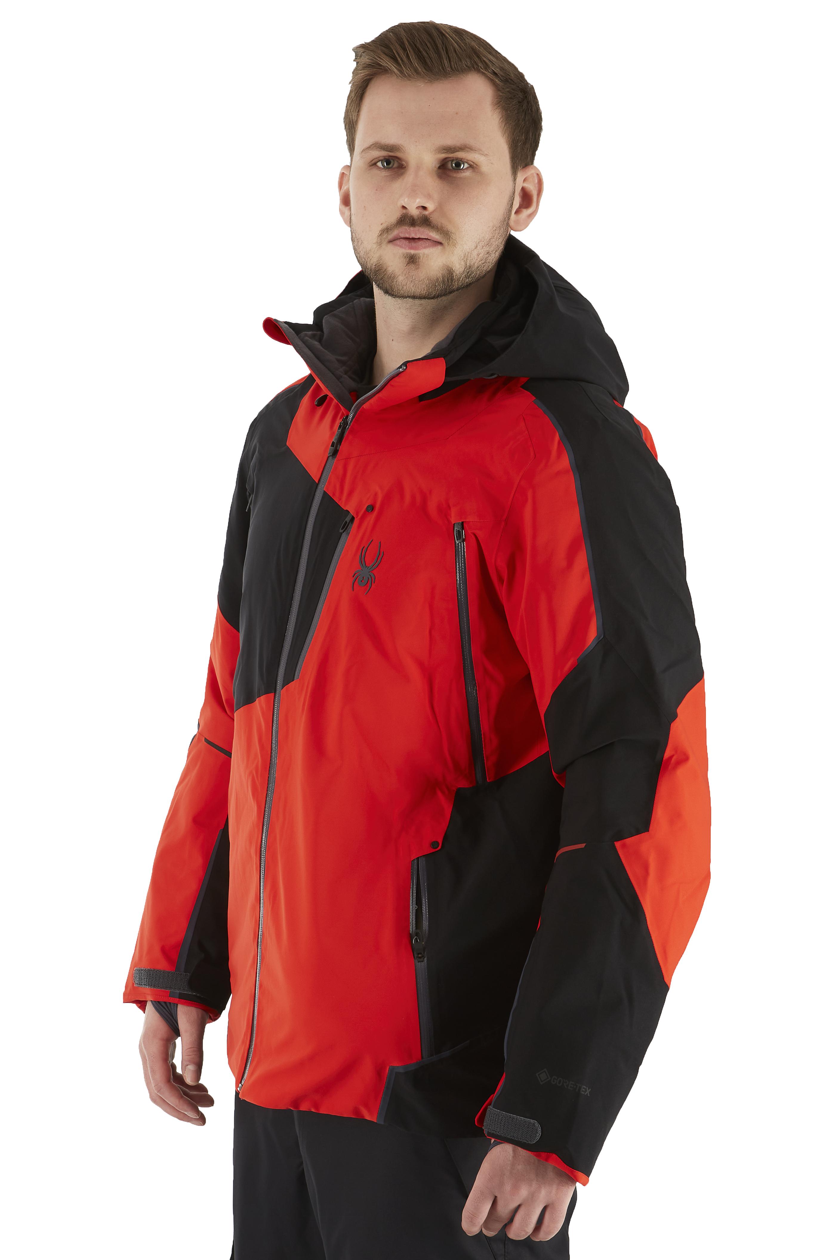 Spyder Leader GTX Ski/Snowboard Jacket, L Bright Red