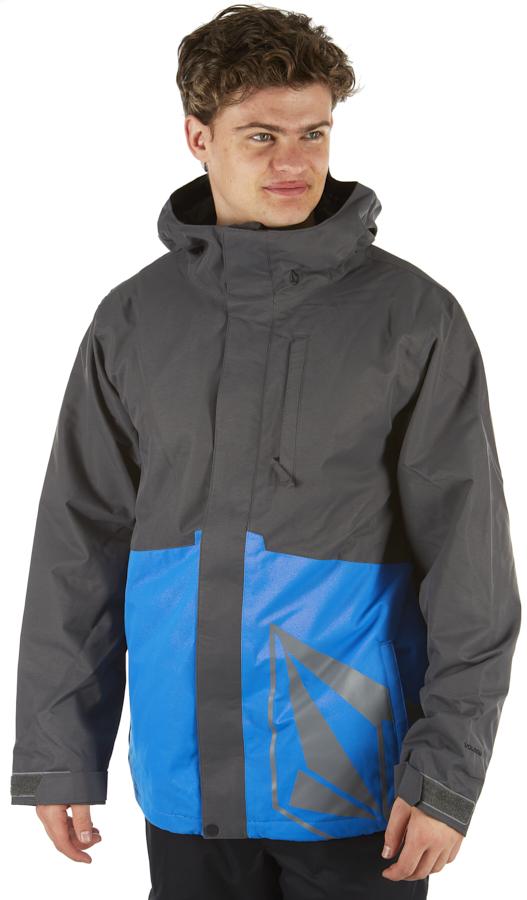 Volcom 17 Forty Insulated Ski/Snowboard Jacket, L Cyan Blue