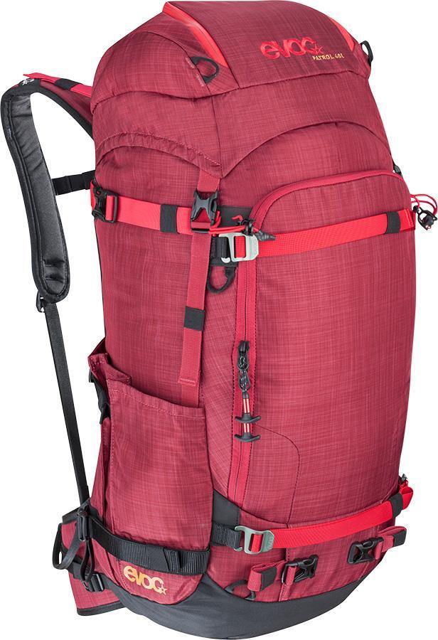 Evoc Patrol Snowboard/Ski Touring Backpack, 40L Heather Ruby