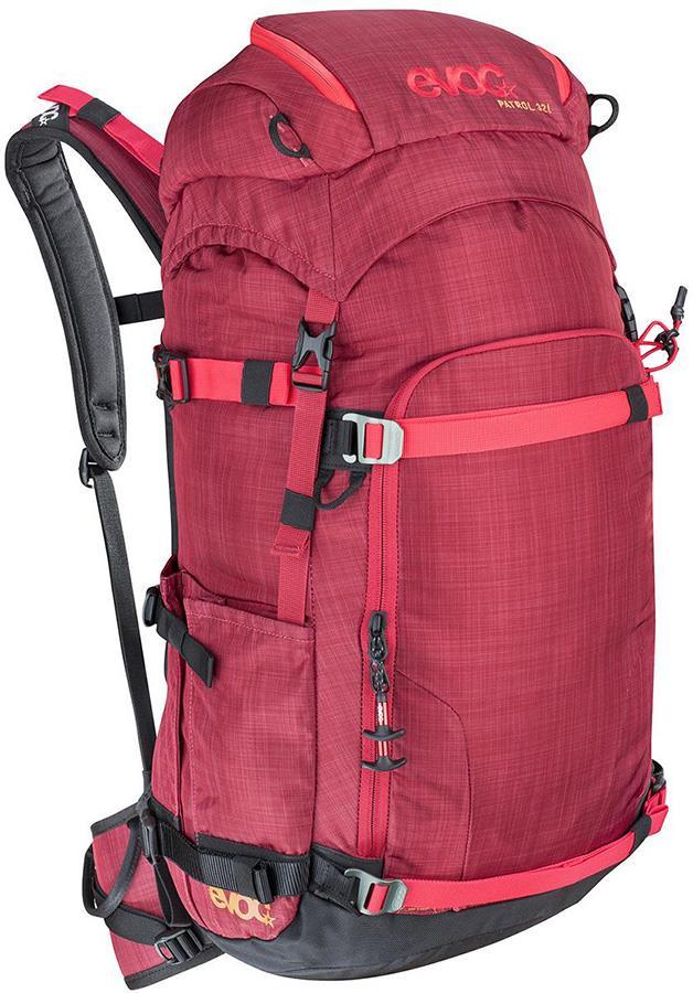 Evoc Patrol Snowboard/Ski Touring Backpack, 32L Heather Ruby