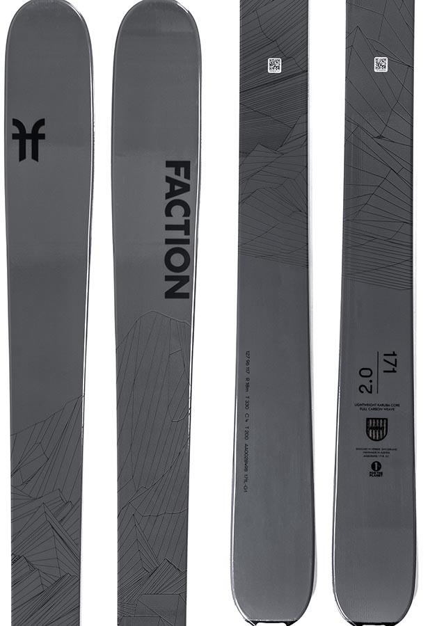 Faction Agent 2.0 Ski Only Skis, 171cm Black 2021