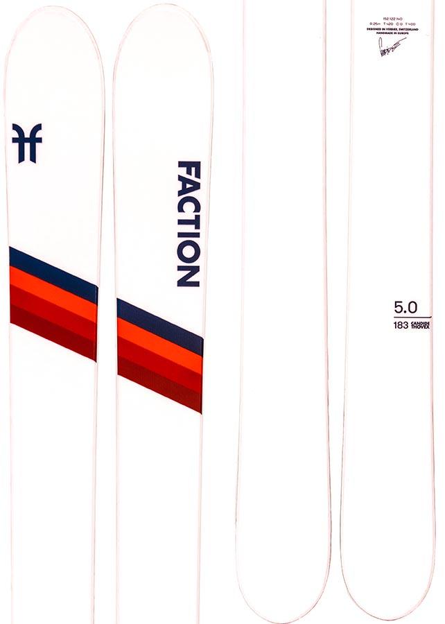 Faction Candide 5.0 Ski Only Skis, 183cm White 2021