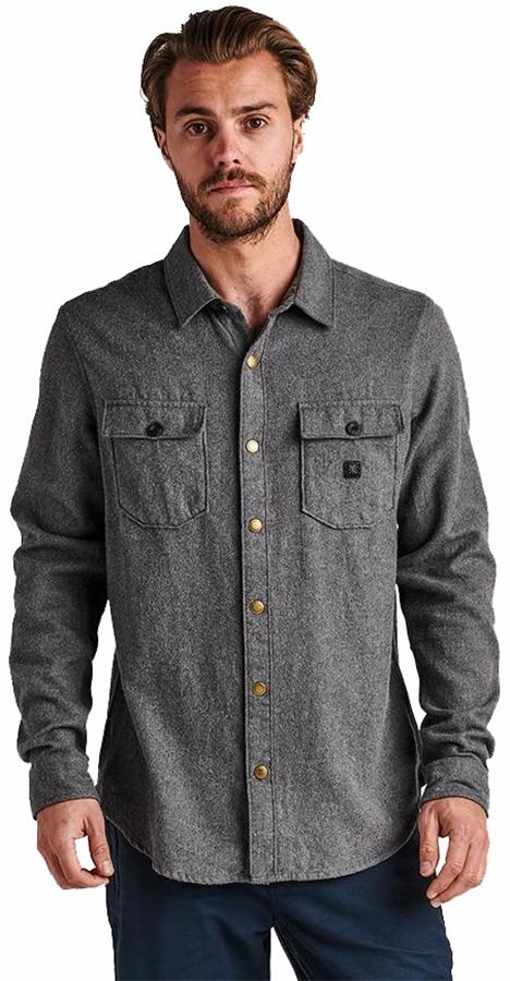 Roark Adult Unisex Nordsman Button Up Long Sleeve Shirt, S Charcoal