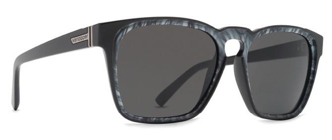 Von Zipper Levee Gradient Lens Sunglasses, Black White Swirl