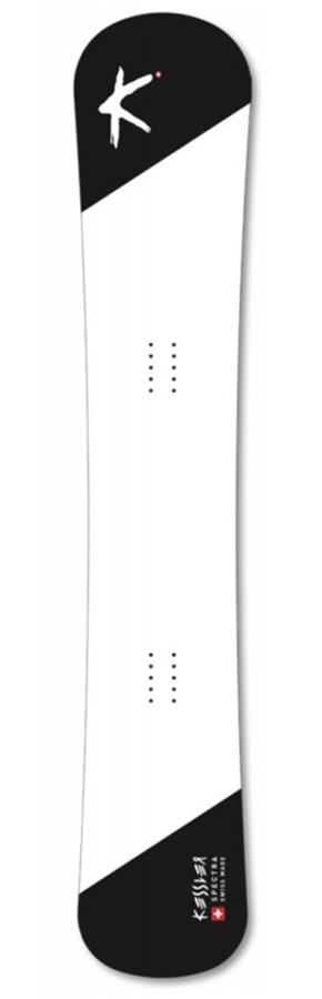 Kessler Spectra Hybrid Camber Snowboard, 148cm Black/White Deck/Base