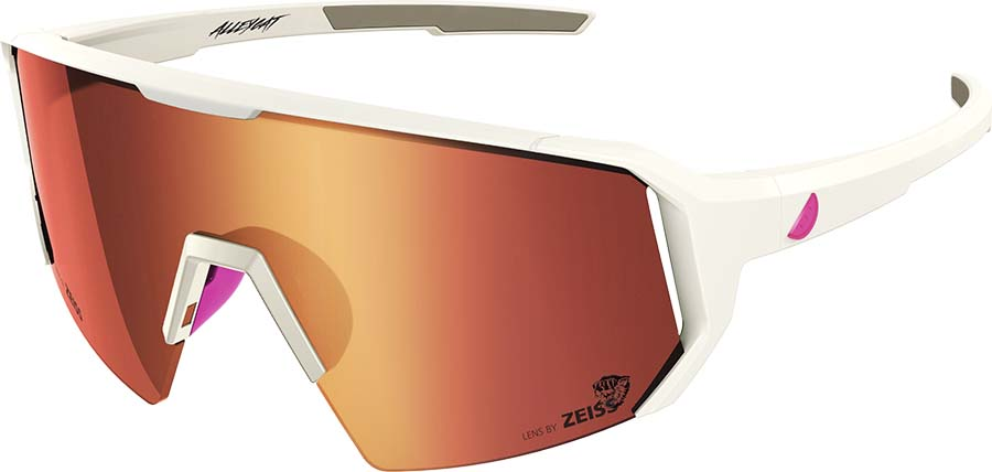Melon Alleycat Red Chrome Performace Sunglasses, White/Neon Pink
