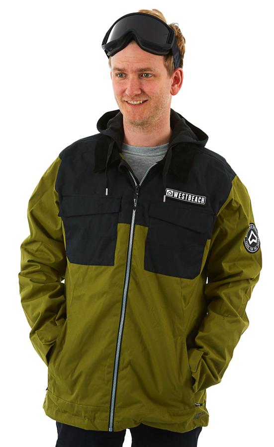 Westbeach Dauntless Ski/Snowboard Jacket, L Combat Green