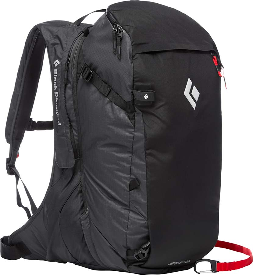 Black Diamond JetForce Pro Pack 25L Ski/Snowboard Backpack, M/L Black