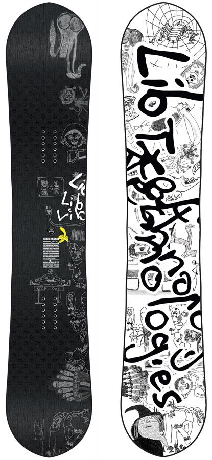Lib Tech Skate Banana Reis Hybrid Camber Snowboard, 156cm 2020